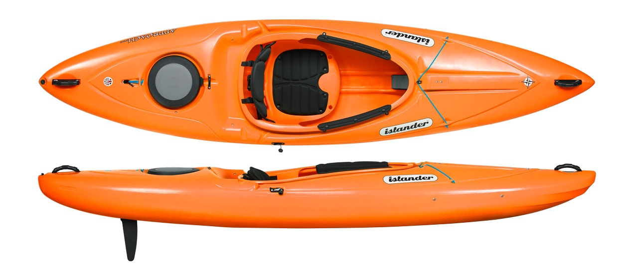 Kayak suitable for both white water and a quiet ride on the Elbe